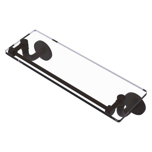 Étagère en verre Remi de meuble-lavabo avec rail de galerie de 16 po