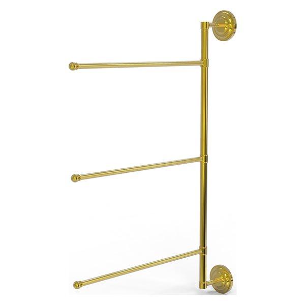 Allied Brass Prestige Que New Polished Brass Wall Mount Towel Rack