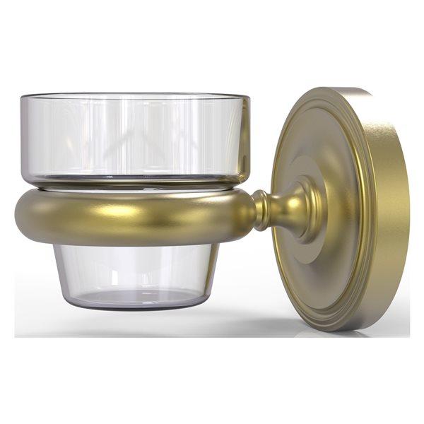 Allied Brass Prestige Regal Satin Brass Glass Votive Candle Holder