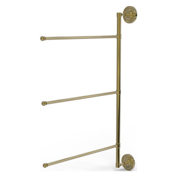 Allied Brass Prestige Regal Unlacquered Brass Wall Mount Towel Rack