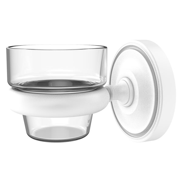 Allied Brass Prestige Regal Matte White Glass Votive Candle Holder
