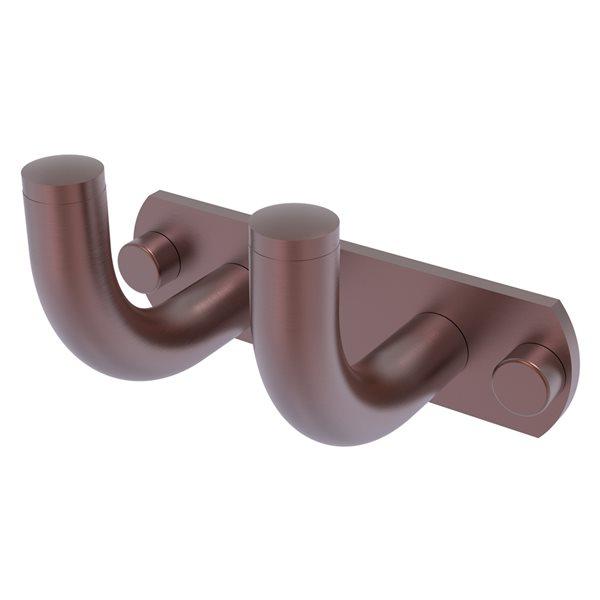 Allied Brass Remi 2-Hook Antique Copper Towel Hook