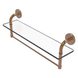 Étagère en verre Remi de meuble-lavabo avec barre à serviettes intégrée de 22 po