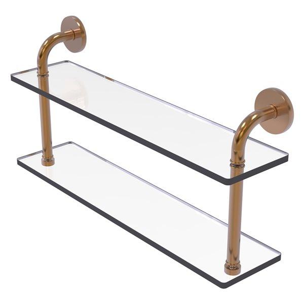 Étagère en verre à deux niveaux de 22 po (55.88 cm) de collection Remi