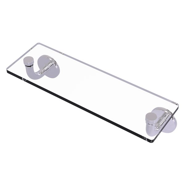 Remi Collection 16 Inch Glass Vanity Shelf with Beveled Edges
