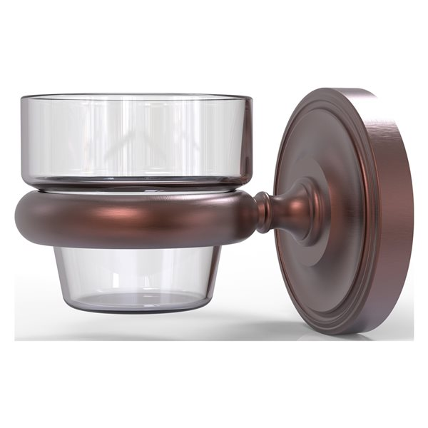 Allied Brass Prestige Regal Antique Copper Glass Votive Candle Holder