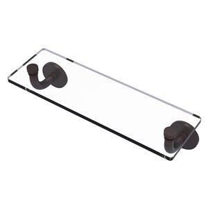 Étagère en verre Remi de meuble-lavabo avec bords biseautés de 16 po