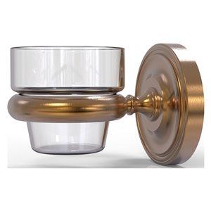 Allied Brass Prestige Regal Brushed Bronze Glass Votive Candle Holder