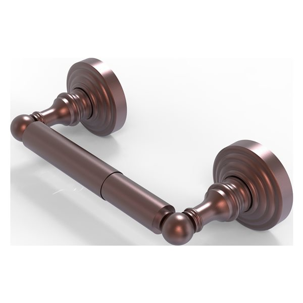 Allied Brass Waverly Place Wall Mount Double Post Toilet Paper Holder in Antique Copper