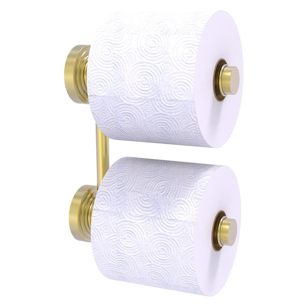 Allied Brass Waverly Place Wall Mount Double Post Toilet Paper Holder - Satin Brass
