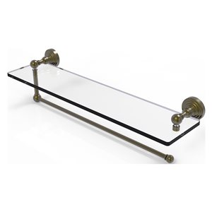 Allied Brass 22-in Metal Mounted Antique Brass Paper Towel Holder
