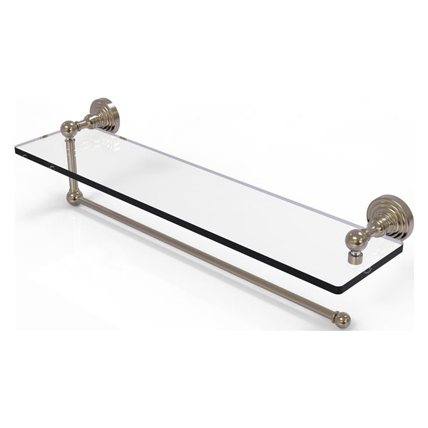 Allied Brass 22-in Metal Mounted Antique Pewter Paper Towel Holder