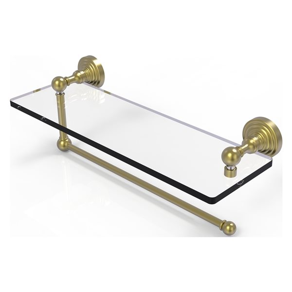 Allied Brass 16-in Metal Mounted Satin Chrome Paper Towel Holder