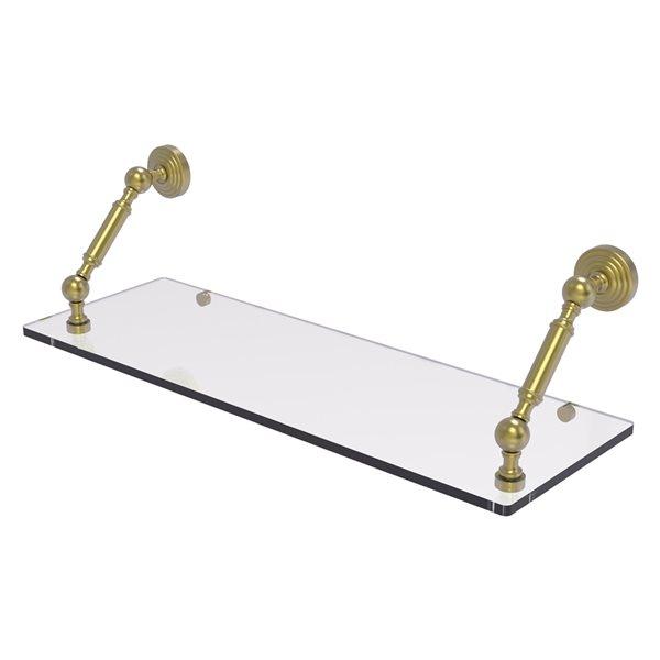 Allied Brass Waverly Place Satin Brass 24-in Floating Glass Shelf