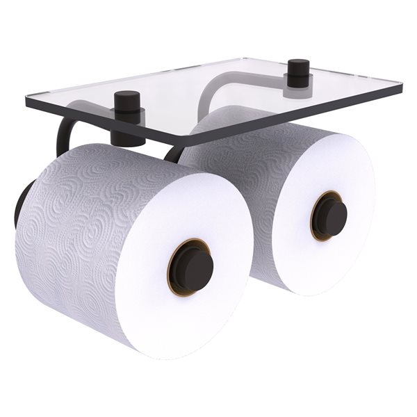 Allied Brass Waverly Place Oil Rubbed Bronze Wall Mount Double Post Toilet Paper Holder