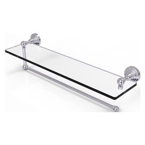 Allied Brass 22-in Metal Mounted Satin Chrome Paper Towel Holder