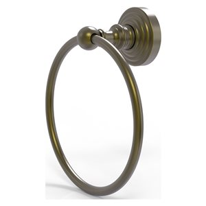 Allied Brass Waverly Place Antique Brass Wall Mount Towel Ring