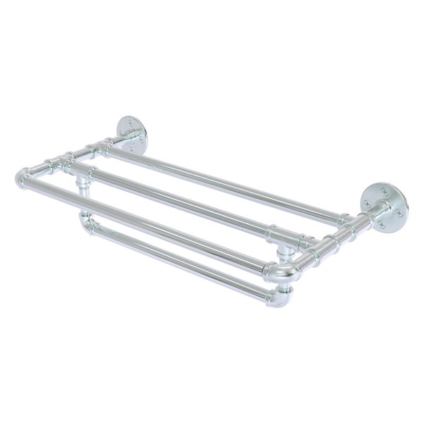 Allied Brass Pipeline 24-in Polished Chrome Wall Mount Towel Rack
