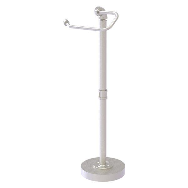 Allied Brass Pipeline Satin Nickel Freestanding Single Post Toilet Paper Holder