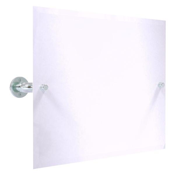 Allied Brass Pipeline 29.5-in Polished Chrome Rectangular Frameless Bathroom Mirror