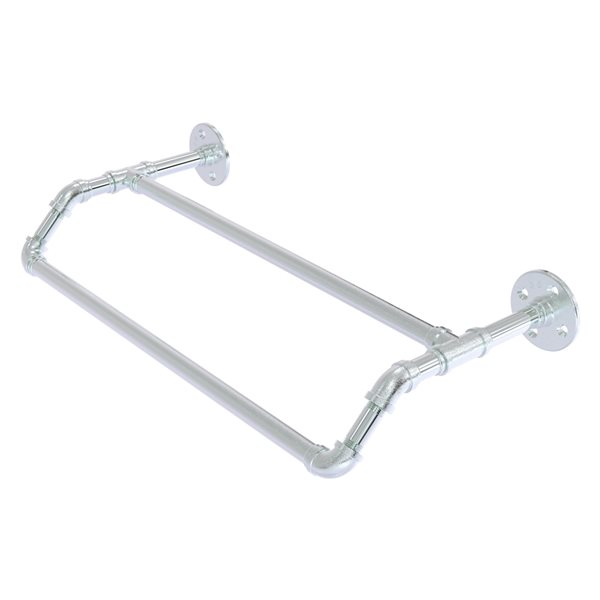 Allied Brass Pipeline 30-in Double Polished Chrome Wall Mount Towel Bar