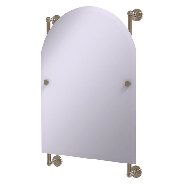 Allied Brass Waverly Place 21-in Antique Pewter Arch Frameless Bathroom Mirror