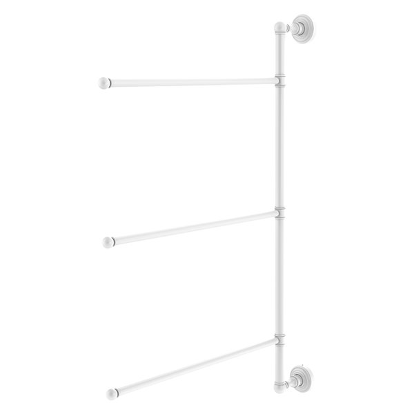 Allied Brass Waverly Place 3-Swing Arm Vertical 28-in Towel Bar - Matte White