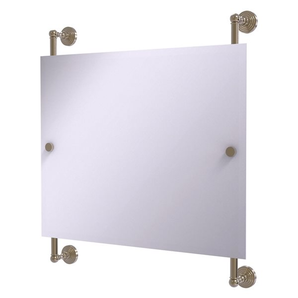 Allied Brass Waverly Place 26-in Antique Pewter Rectangular Frameless Bathroom Mirror
