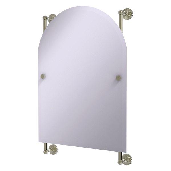 Allied Brass Waverly Place 21-in Polished Nickel Arch Frameless Bathroom Mirror