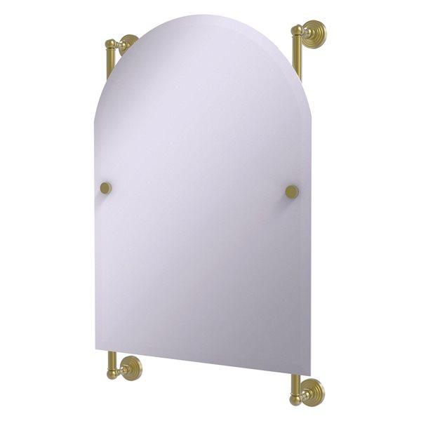 Allied Brass Waverly Place 21-in Satin Brass Arch Frameless Bathroom Mirror