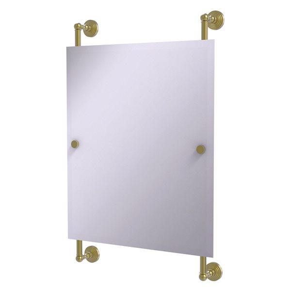 Allied Brass Waverly Place 21-in Satin Brass Rectangular Frameless Bathroom Mirror