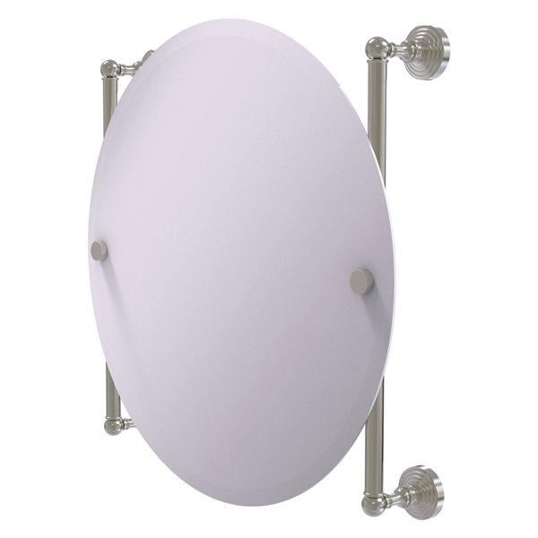 Allied Brass Waverly Place 22-in Satin Nickel Round Frameless Bathroom Mirror