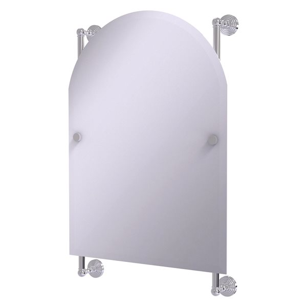 Allied Brass Waverly Place 21-in Polished Chrome Arch Frameless Bathroom Mirror