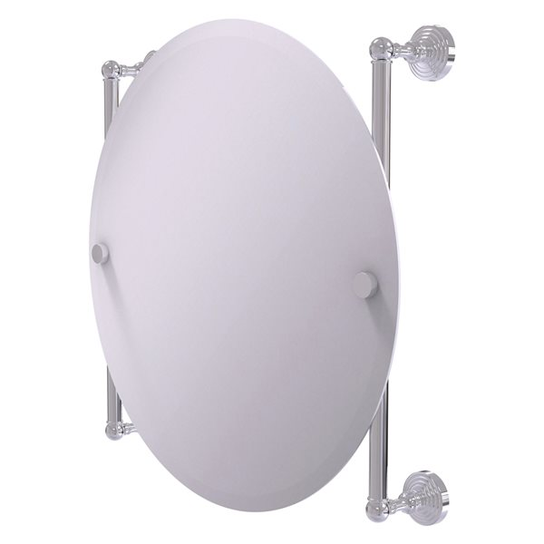 Allied Brass Waverly Place 22-in Polished Chrome Round Frameless Bathroom Mirror