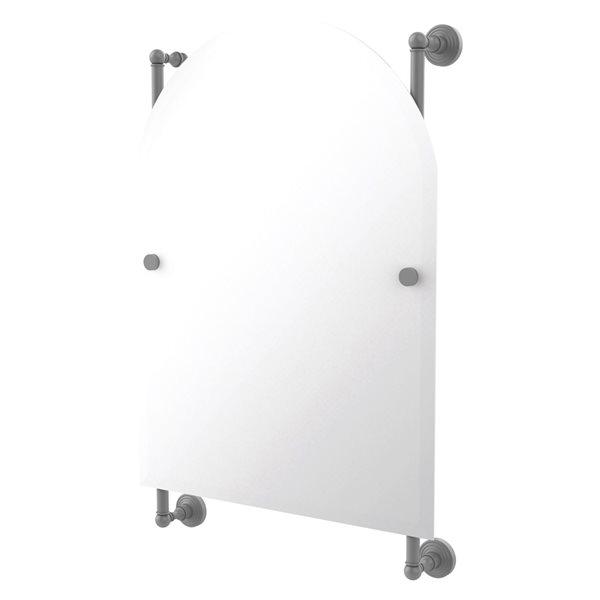 Allied Brass Waverly Place 21-in Matte Grey Arch Frameless Bathroom Mirror