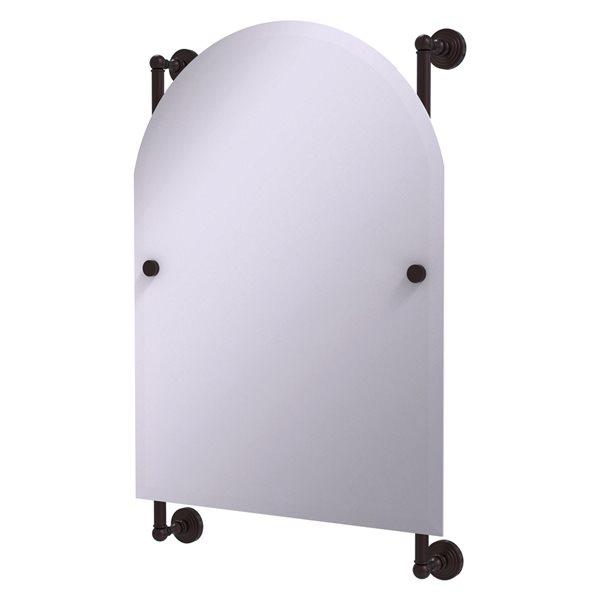 Allied Brass Waverly Place 21-in Antique Bronze Arch Frameless Bathroom Mirror