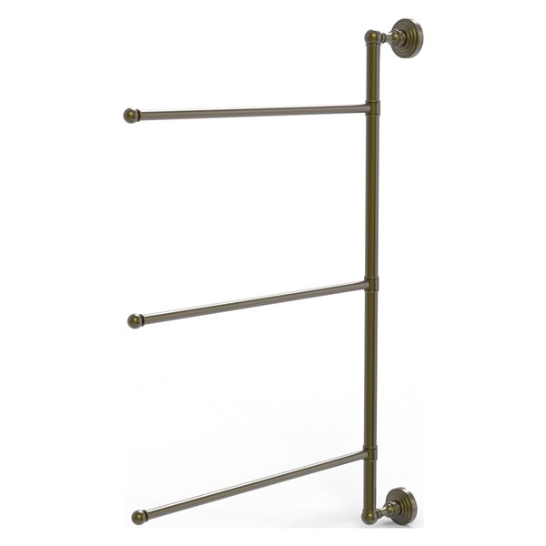 Allied Brass Waverly Place 3-Swing Arm Vertical 28-in Towel Bar - Antique Brass