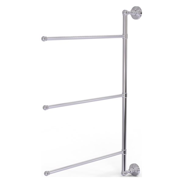 Allied Brass Waverly Place 3-Swing Arm Vertical 28-in Towel Bar - Polished Chrome