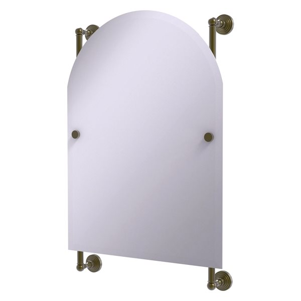 Allied Brass Waverly Place 21-in Antique Brass Arch Frameless Bathroom Mirror