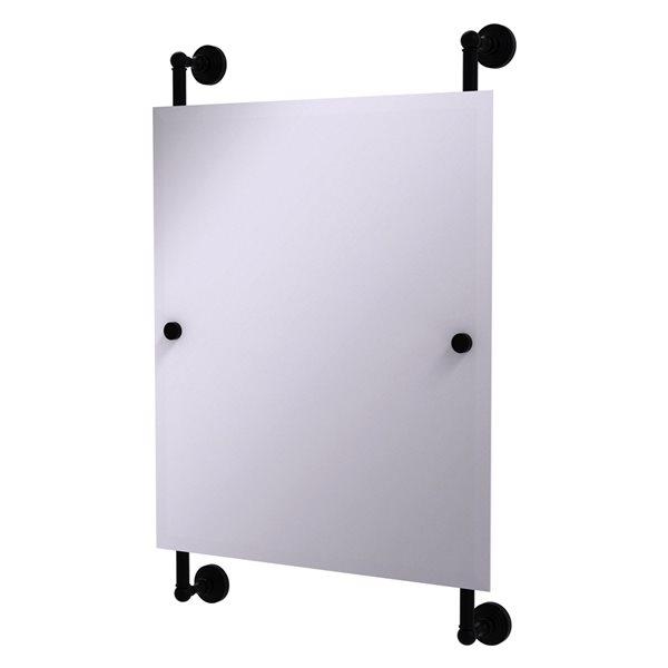 Allied Brass Waverly Place 21-in Matte Black Rectangular Frameless Bathroom Mirror