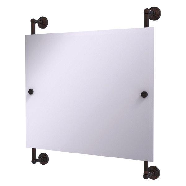 Allied Brass Waverly Place 26-in Venetian Bronze Rectangular Frameless Bathroom Mirror