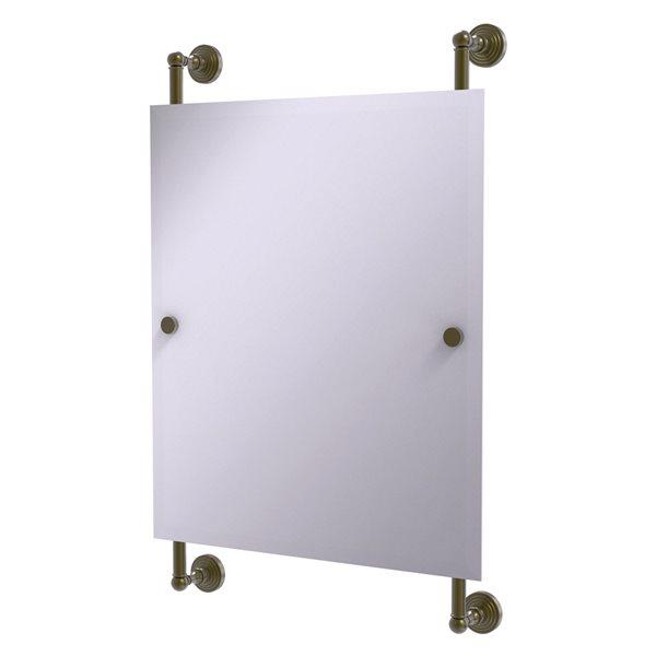 Allied Brass Waverly Place 21-in Antique Brass Rectangular Frameless Bathroom Mirror