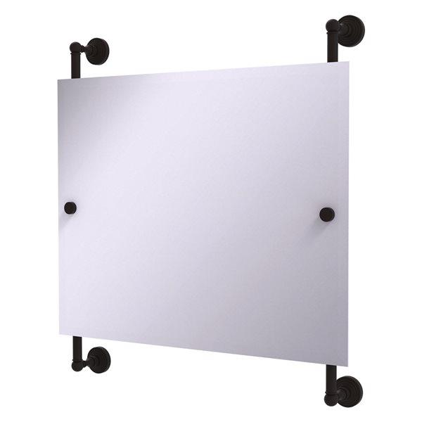 Allied Brass Waverly Place 26-in Oil Rubbed Bronze Rectangular Frameless Bathroom Mirror