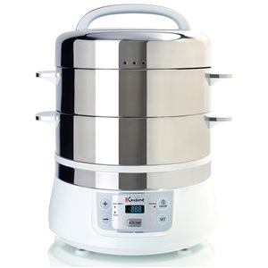 Cuiseur à vapeur programmable de 16 L Euro Cuisine
