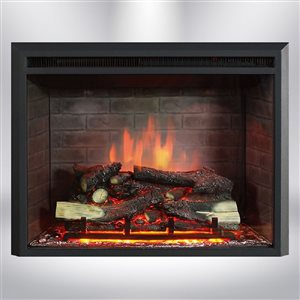 Dynasty Fireplaces 32-in Black Matte LED Electric Fireplace Insert