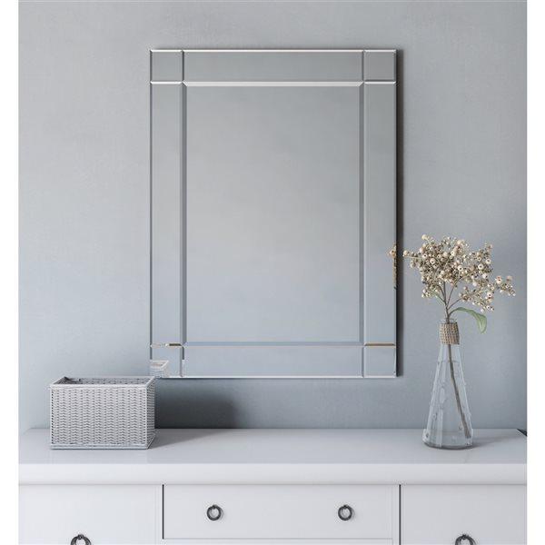 A&E Bath and Shower Seeley 30-in Rectangular Bathroom Mirror