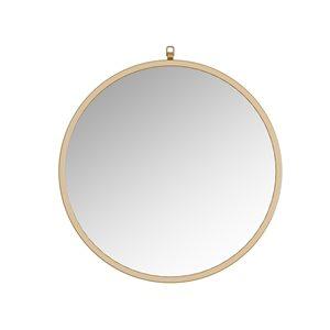 A&E Bath and Shower Haylo 28-in Gold Round Bathroom Mirror
