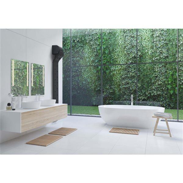 A&E Bath and Shower Valiryo Plastic Matte Black Air Body Dryer