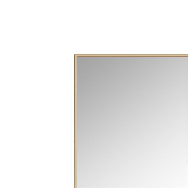 A&E Bath and Shower Prime 30-in Gold Rectangular Bathroom Mirror
