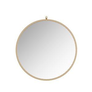 A&E Bath and Shower Haylo 36-in Gold Round Bathroom Mirror